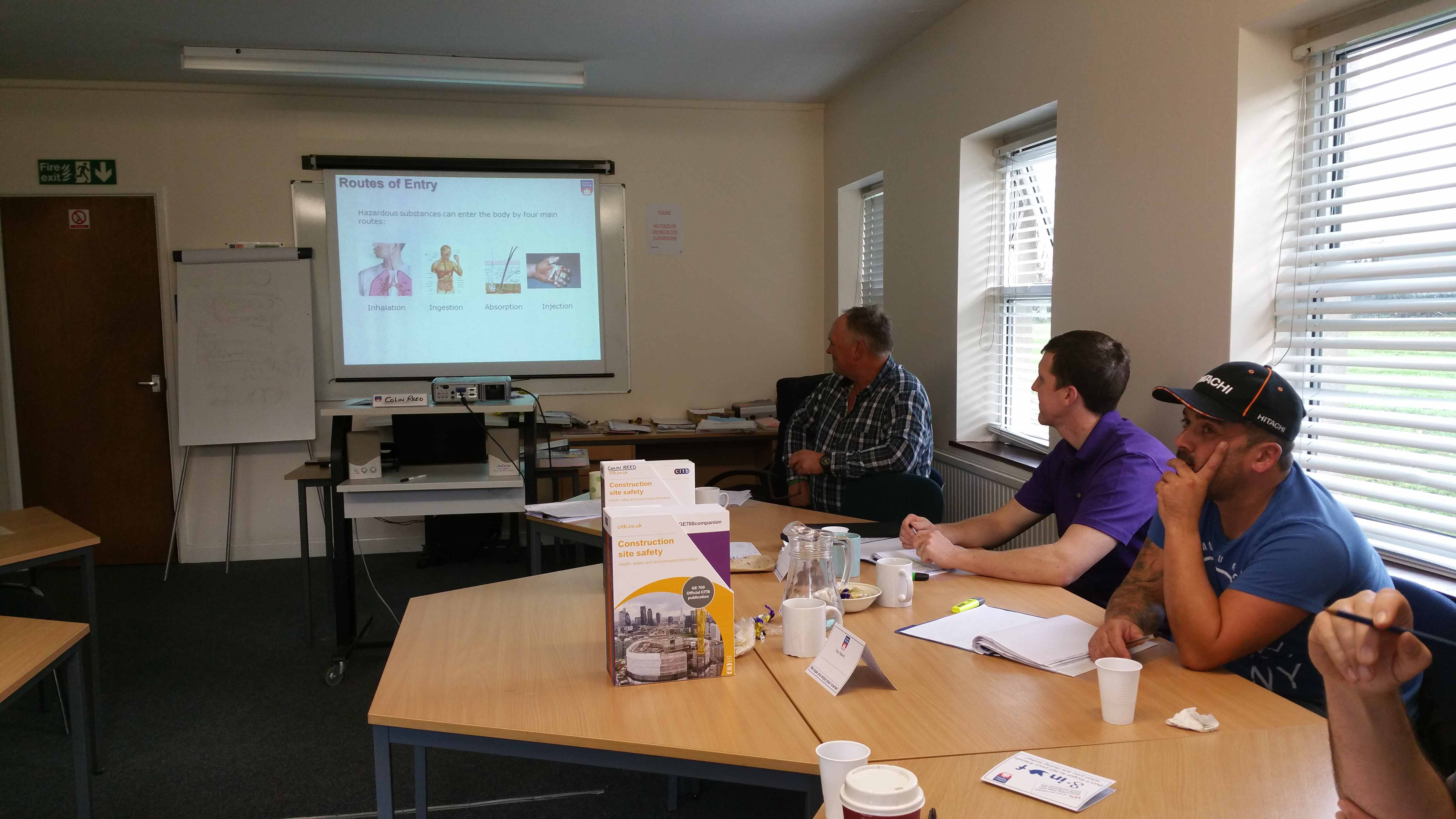 A group of delegates enjoying their Health & Safety Course at our Centre